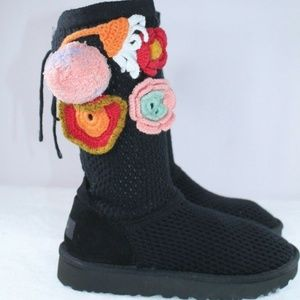 UGG Crochet Classic Side Crochet Floral Boots